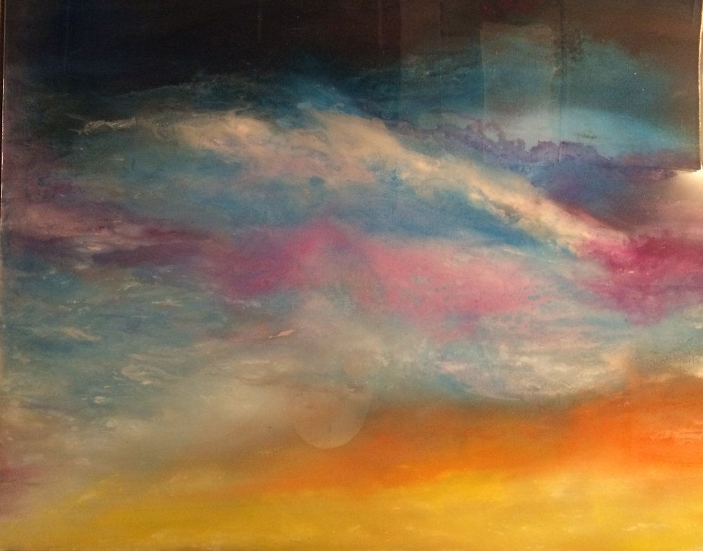 "COSMIC SUNSET #1 (36x48"")"