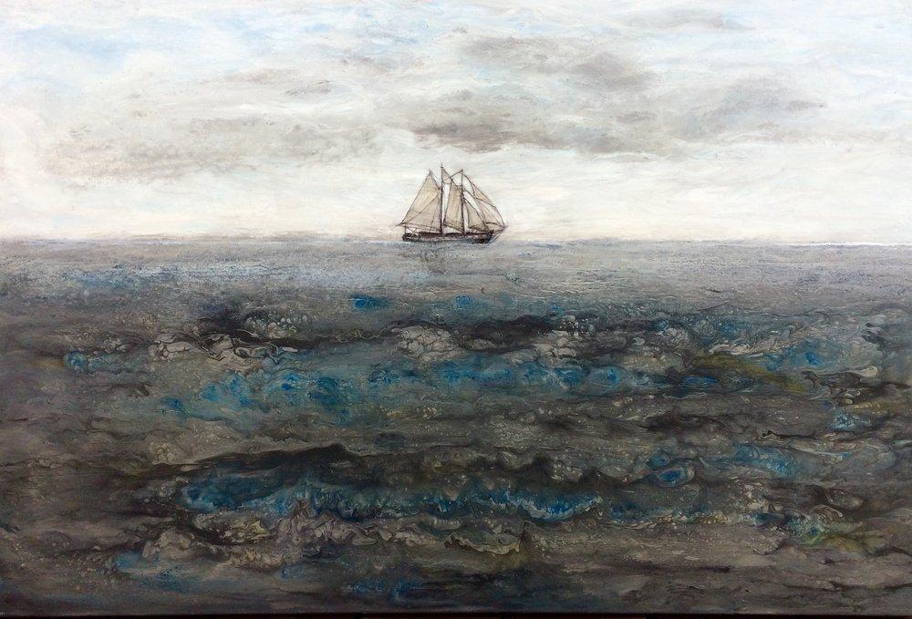 """LOST AT SEA (24x36"""")"""