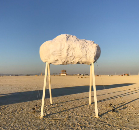Burning Man - After pride month was over, the cloud was packed up and taken to Burning Man where the sound of rain falling was welcomed by festival goers in the hot Nevada dessert.
