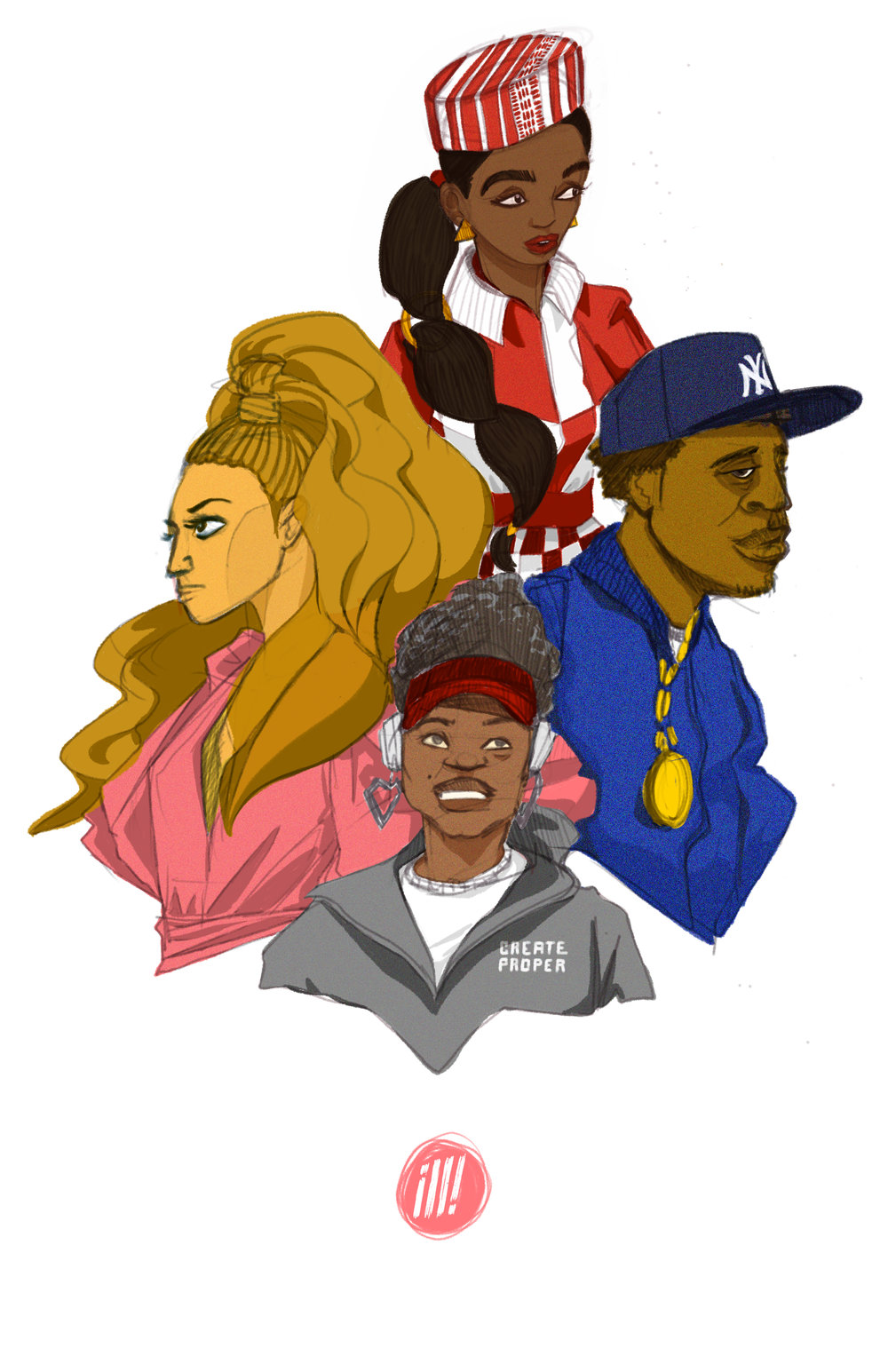 Beyoncé, Janelle Monáe, Jay-Z and local Detroit artist Jaye Prime!