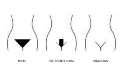 Difference between a bikini wax and a brazilian wax