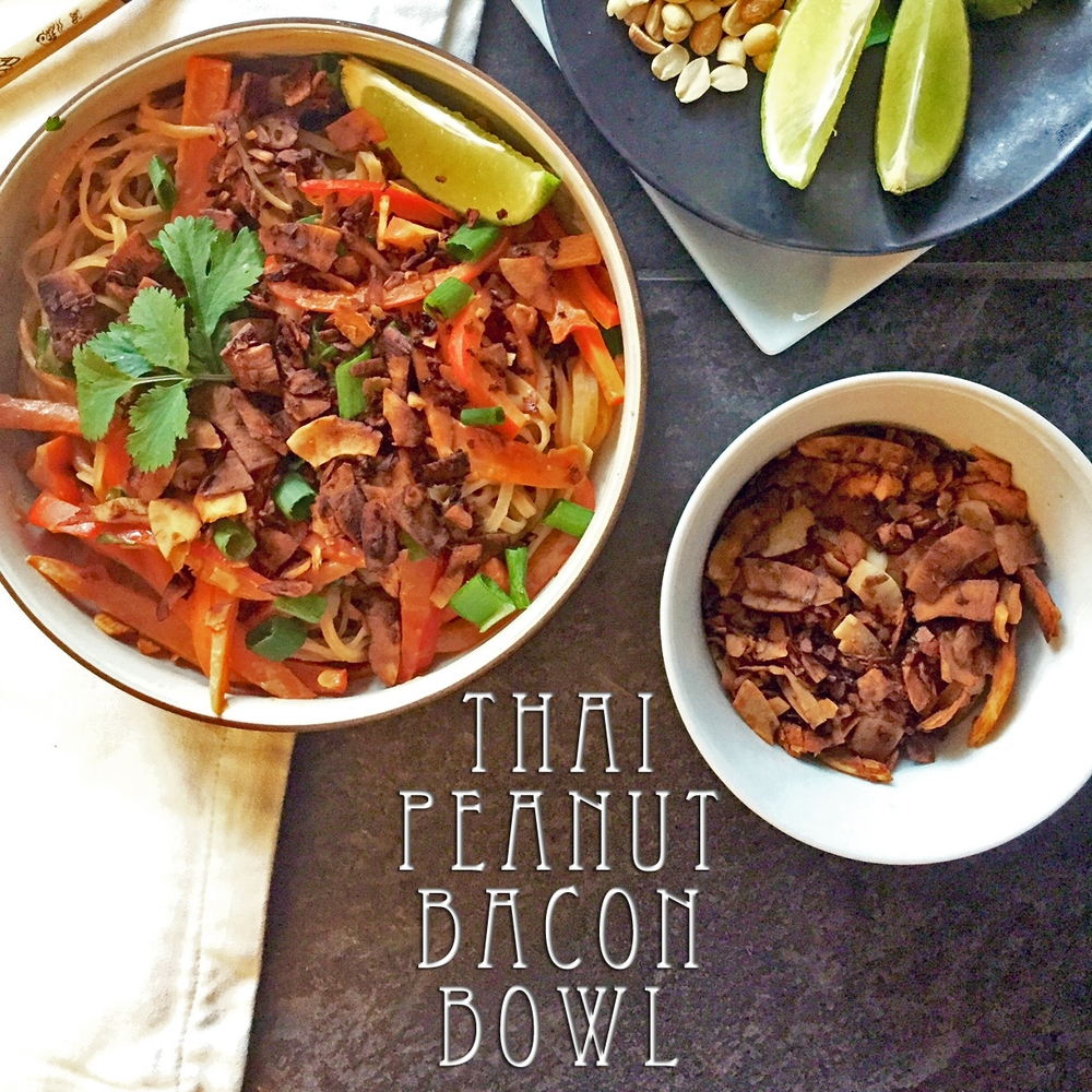 Thai Peanut Bacon Bowl