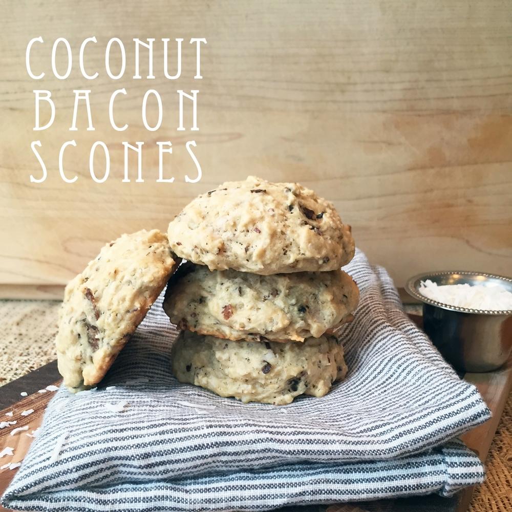 Coconut Bacon Scones
