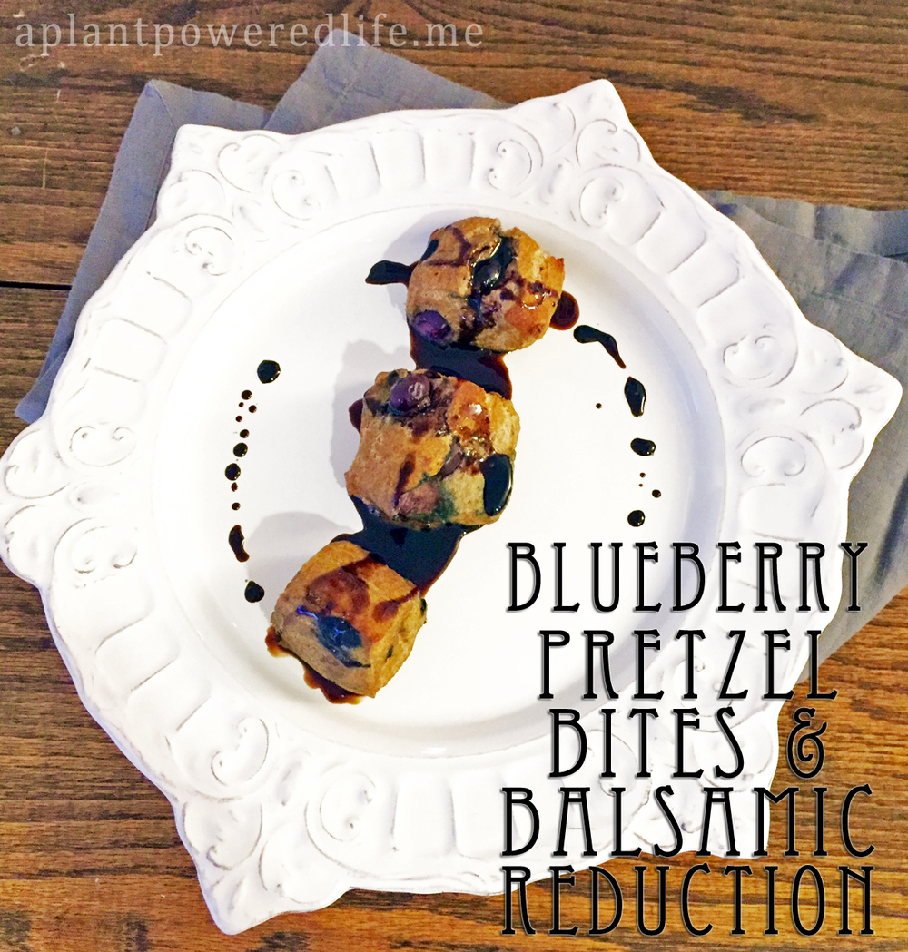 Blueberry Pretzel Bites with a Balsamic Reduction