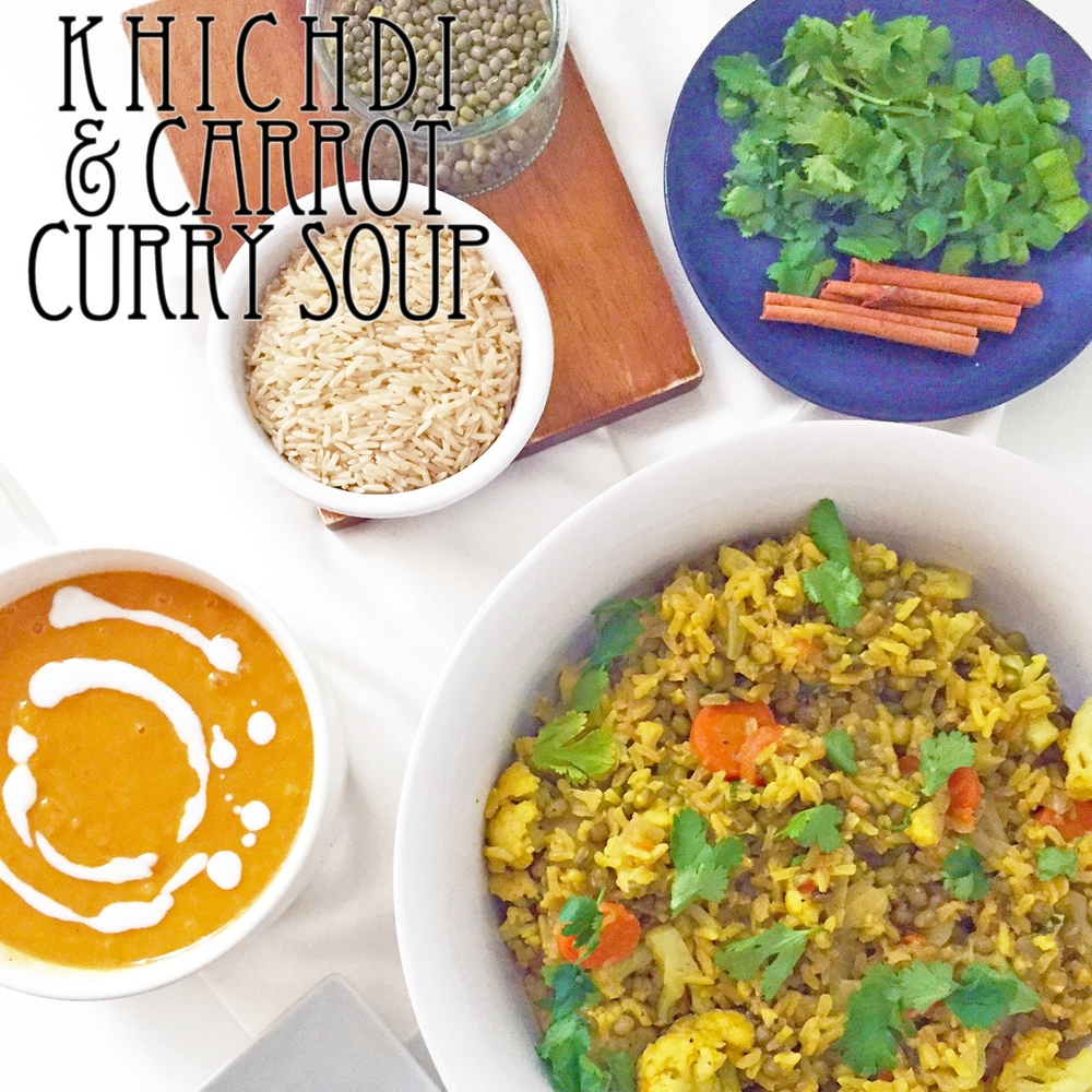 Khichdi and Carrot Curry Soup