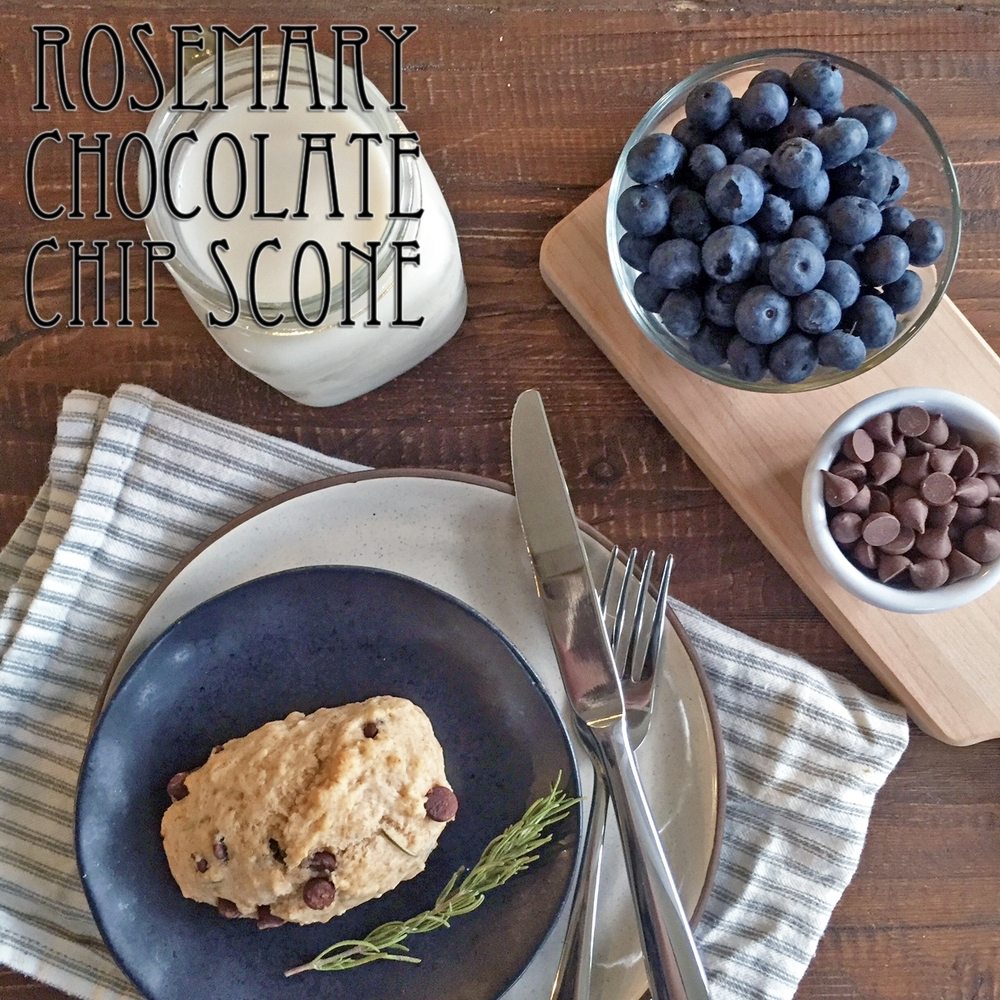 Rosemary Chocolate Chip Scones