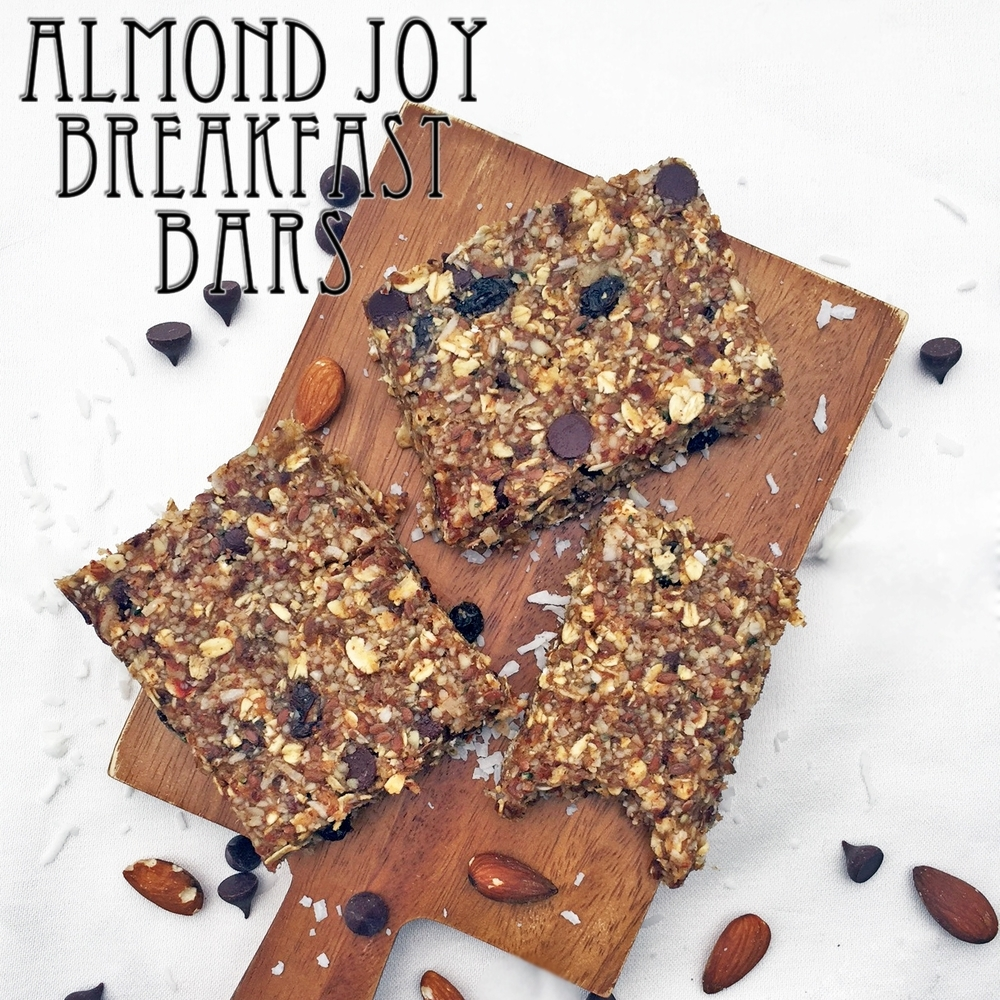 No-Bake Almond Joy Breakfast Bars