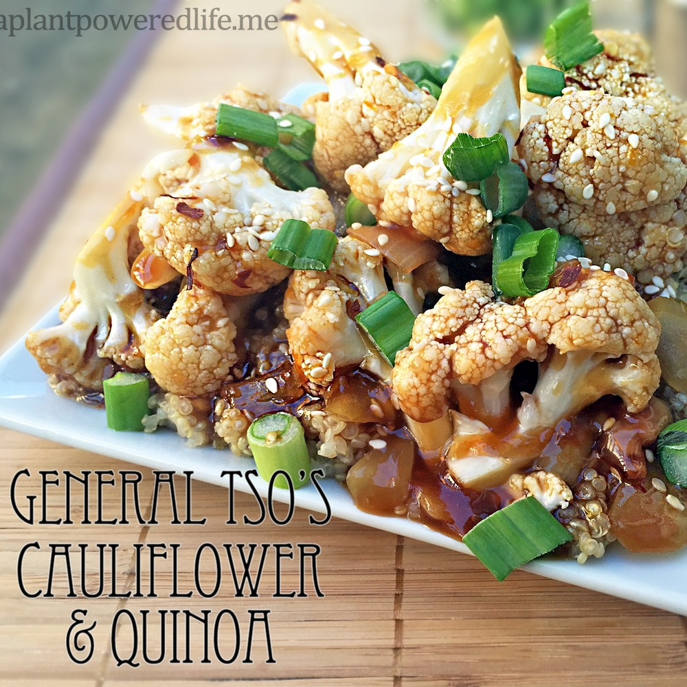 General Tso's Cauliflower over Quinoa