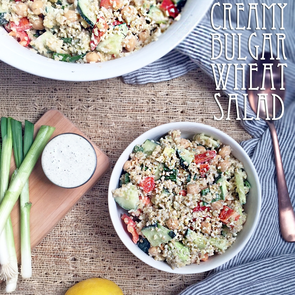 Creamy Bulgar Wheat Salad
