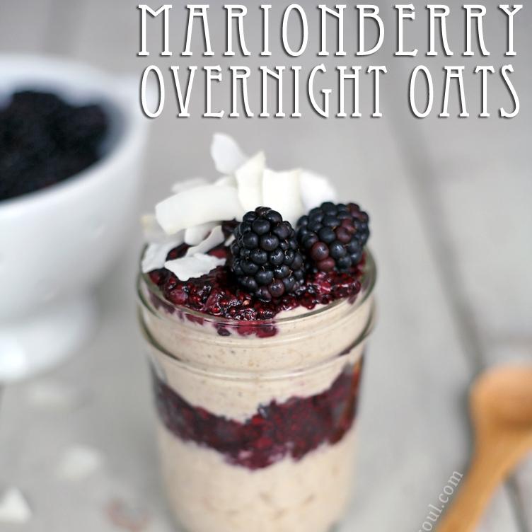 Marionberry Overnight Oat Parfait