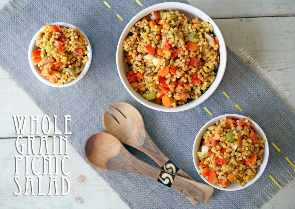 Vegan Whole Grain Pasta Salad