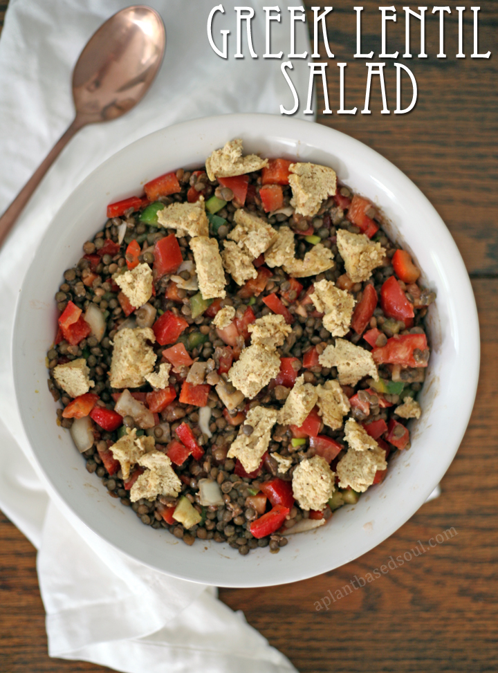 Vegan and Gluten Free Greek Lentil Salad