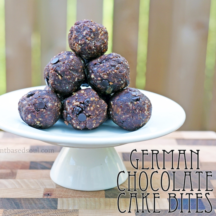 German Chocolate Cake Bites