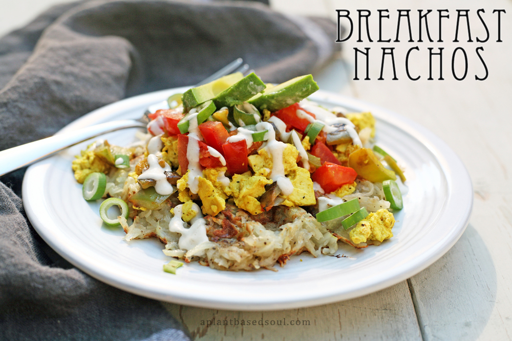 vegan and gluten free breakfast nachos