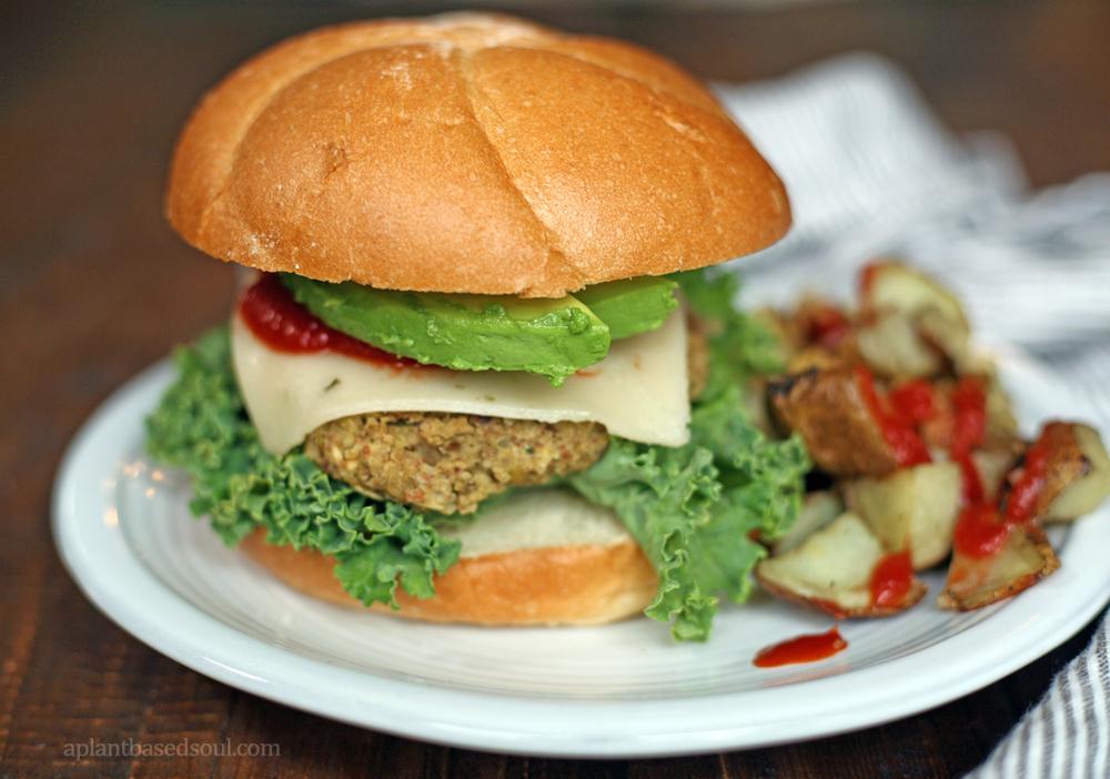 Homemade Gluten Free and Vegan Veggie Burger