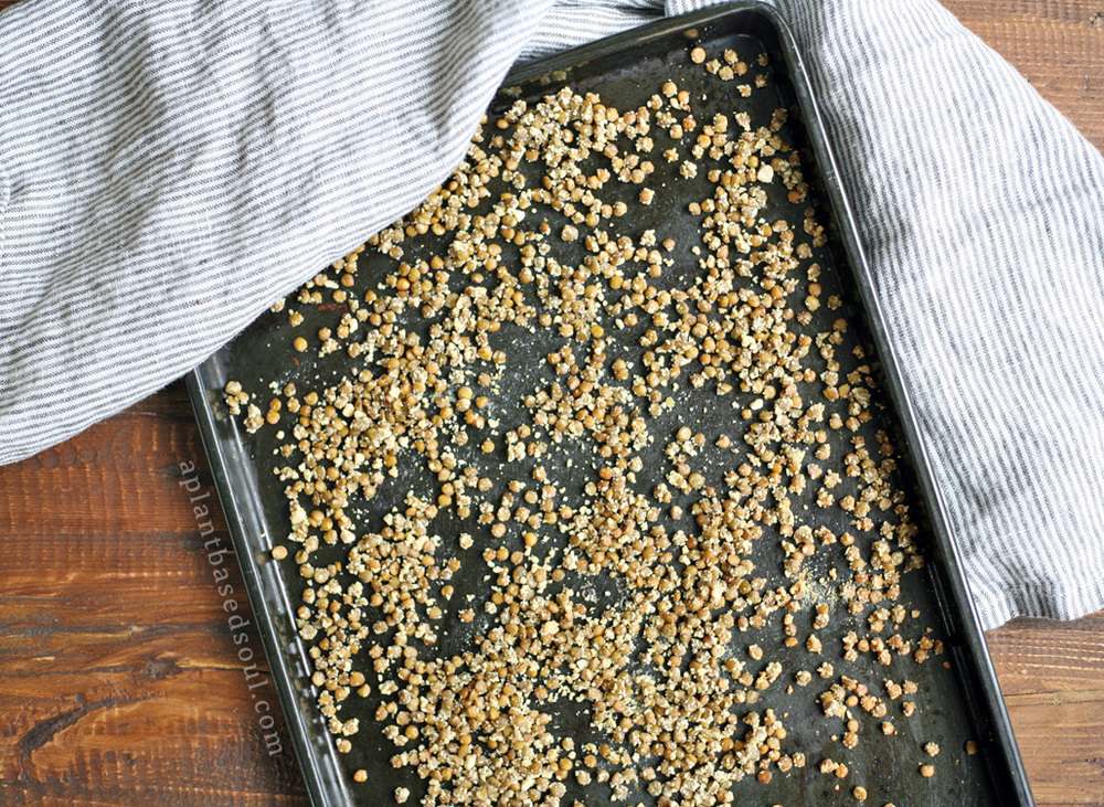 cheesy roasted snacking lentils