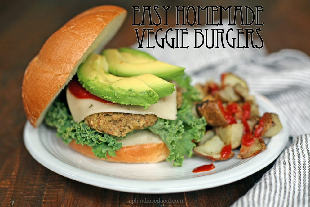 easy homemade vegan and gluten free veggie burger