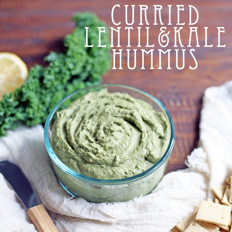 Curried Lentil and Kale Hummus