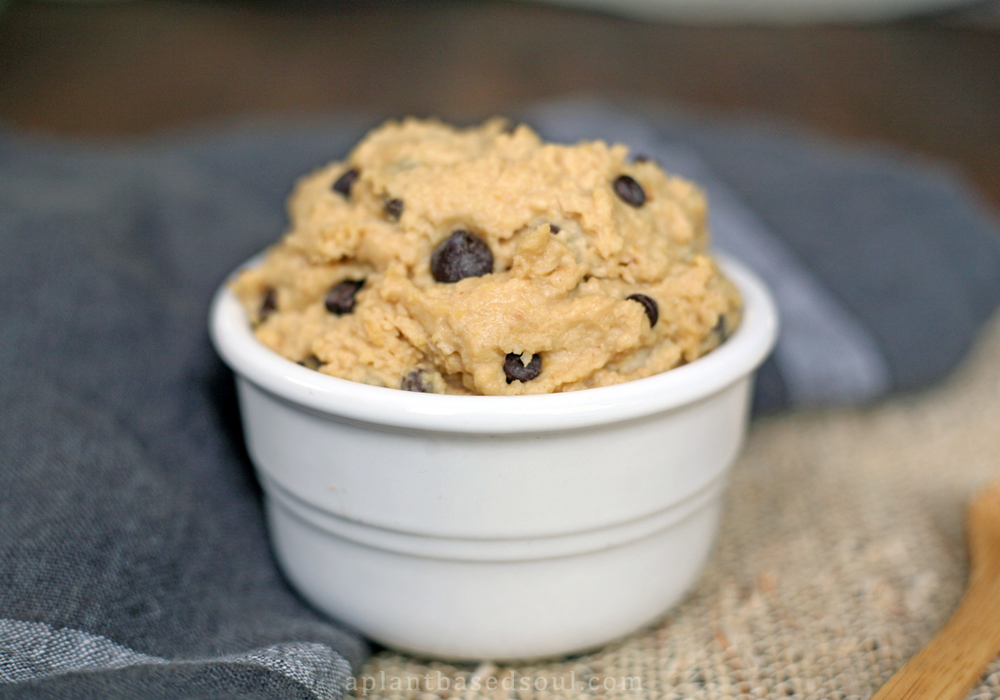 gluten free vegan chickpea cookie dough