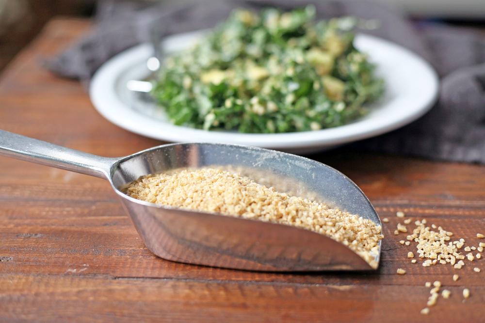 nutritious kale caesar salad, vegan, soy free