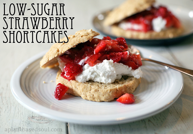 low sugar vegan strawberry shortcake
