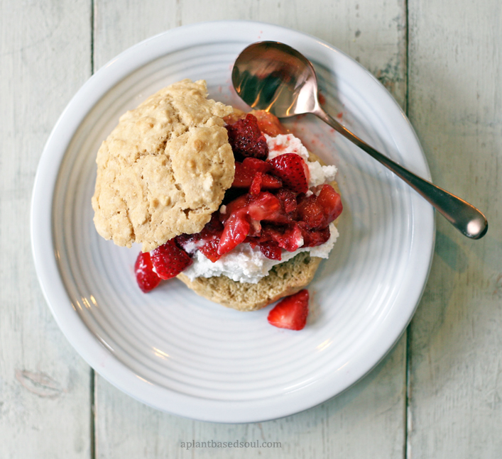vegan soy free strawberry shortcakes