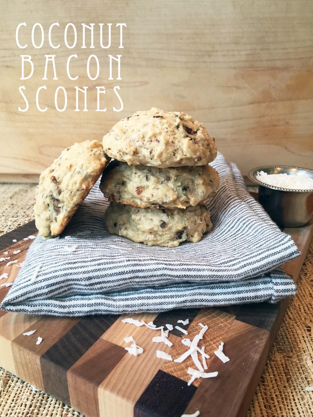 vegan coconut bacon scone