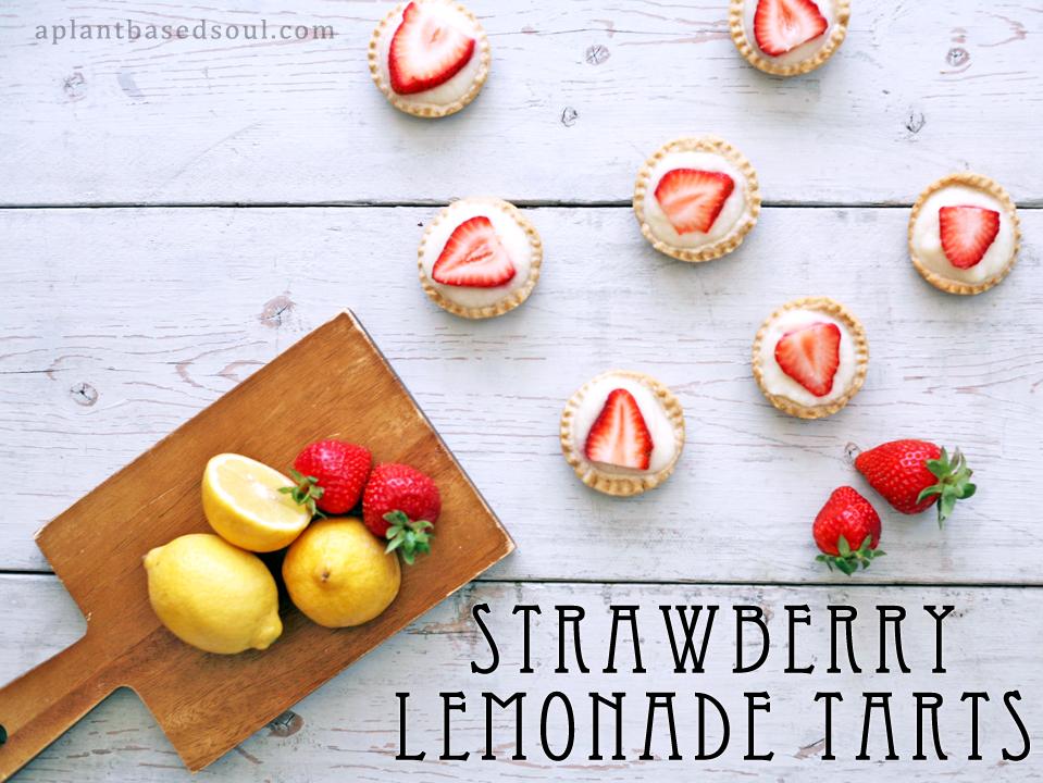 Vegan strawberry lemonade tarts