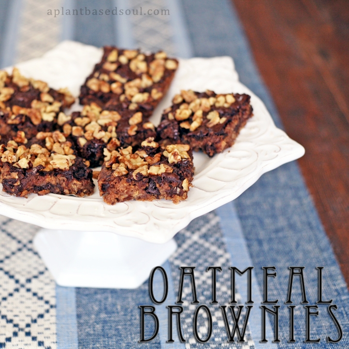 Vegan Oatmeal Brownies
