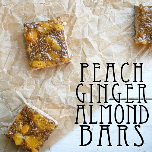 Peach Ginger Almond Bars