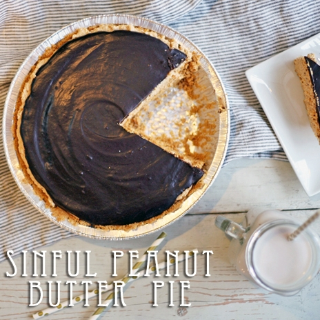 Sinful Peanut Butter Chocolate Pie