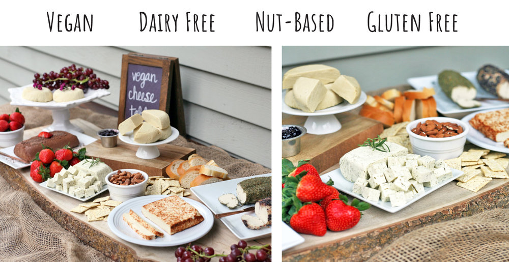 vegan cheese platter table