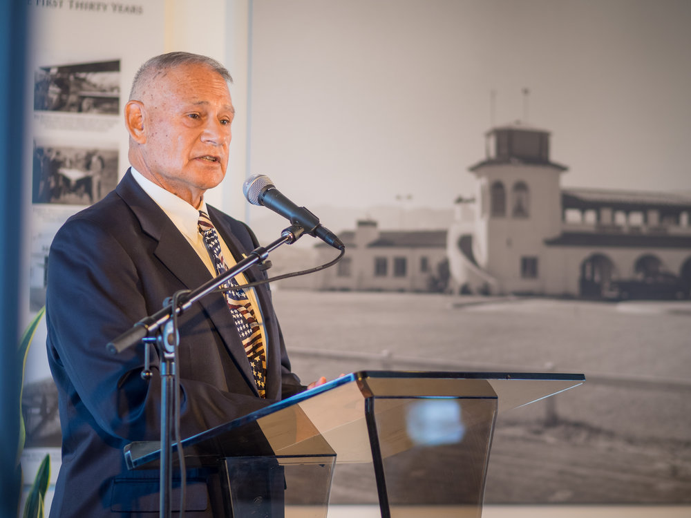 BGen. Fredrick R. Lopez, USMCR (Ret.), the Wings of Honor Project Committee Chairman.