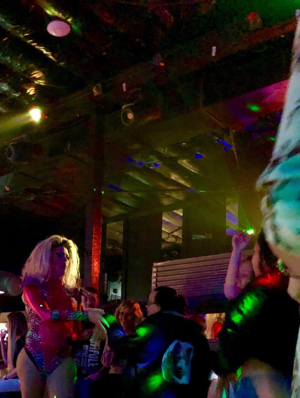 A drag queen performs in Roanoke, Virginia. Credit: Cass Adair