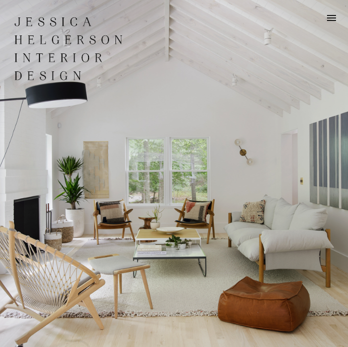 We create brand experiences that reveal, influence, and engage. - Jessica Helgerson Interior Designbrand strategy  /  brand design  /  interactive  /  print collateral & signage