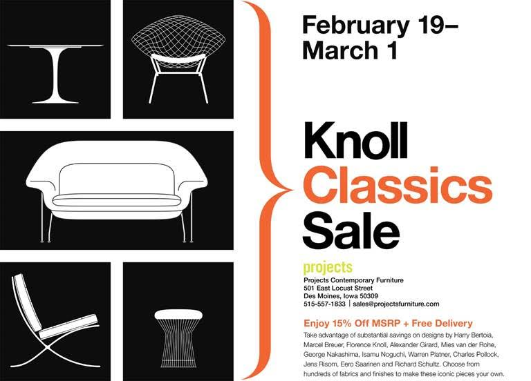 Projects Contemporary Furniture   Projects Contemporary Furniture Upcoming  Sales And Promotions U2014 Knoll Classics Sale