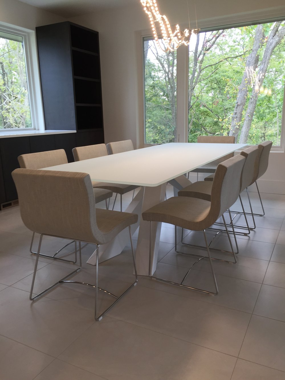 Bonaldo table + Ligne Roset chairs