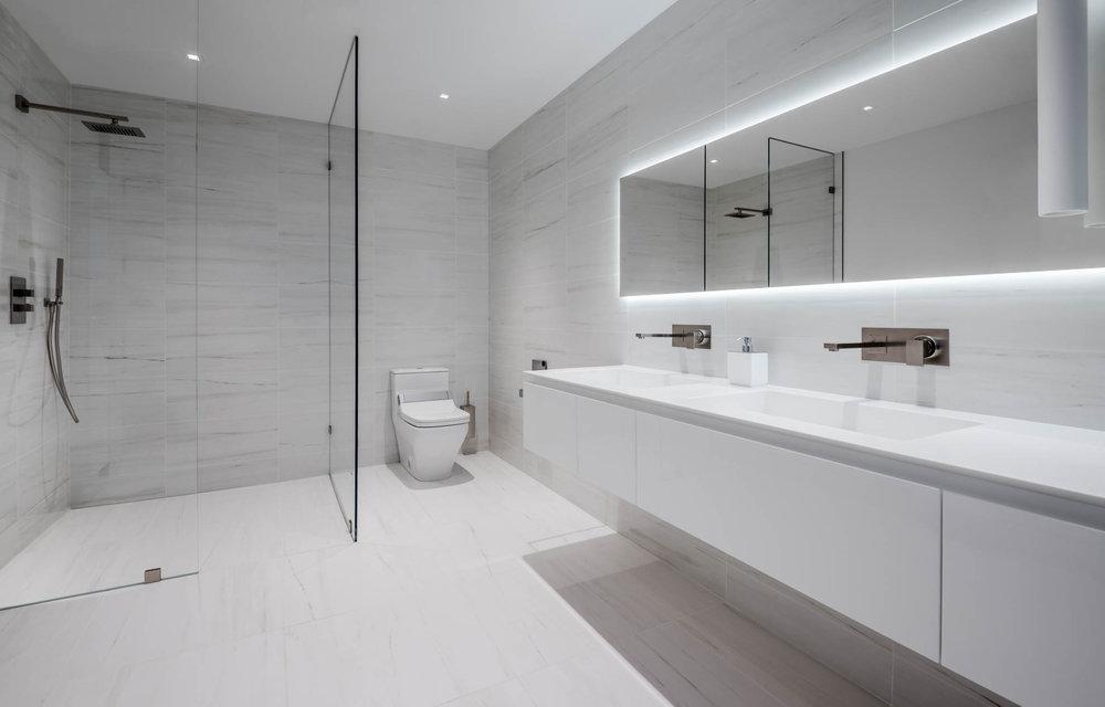 Rifra bathroom cabinetry & accessories, Gessi fixtures