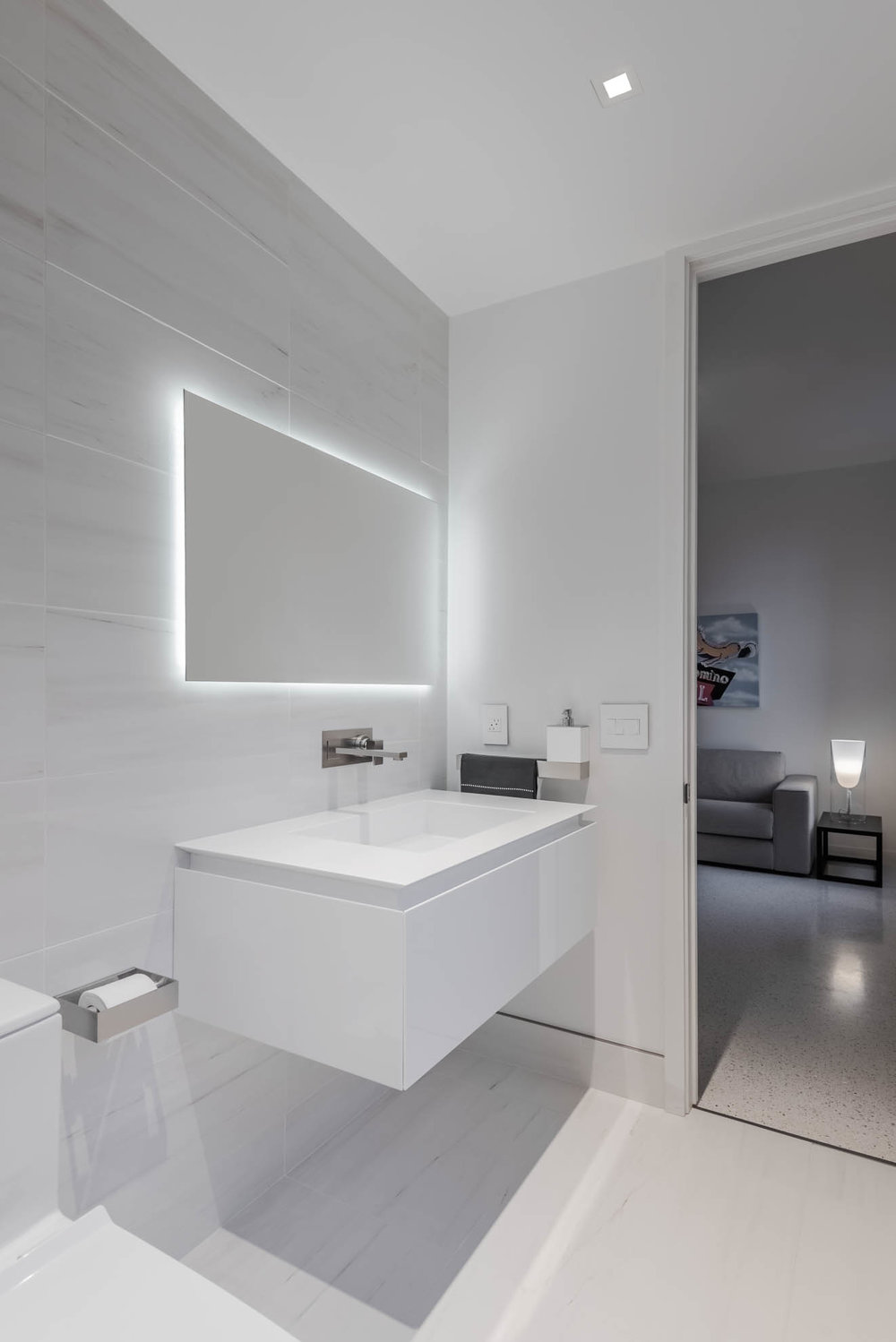 Rifra bathroom cabinetry & accessories, Gessi fixtures