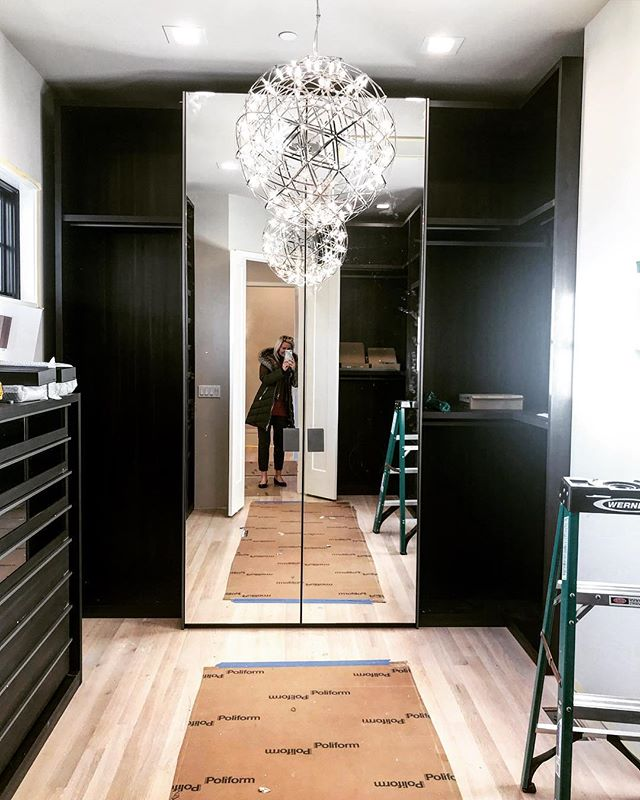 Job site visit Saturday! #customcloset #poliform #moooi #dreamcloset
