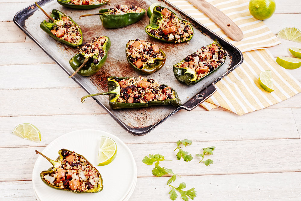 Quinoa Stuffed Poblano Peppers / Greenridge Farm