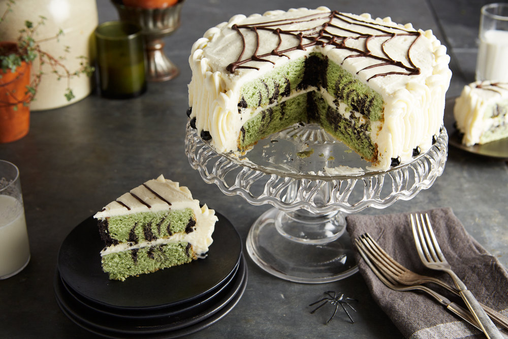 Green Tea Cobweb Cake / Reynolds Kitchens
