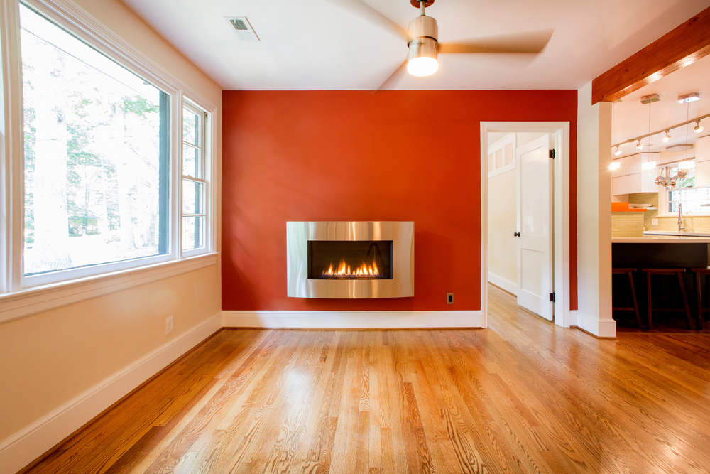 The fireplace where there was none before. (Photo: Kent Eanes)