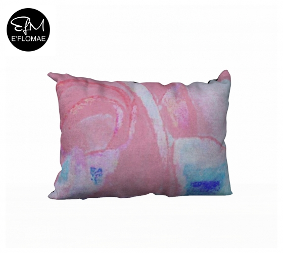 "E'FLOMAE ""FLOURISH"" TEXTILE PRINT THROW PILLOW MOCK UP"