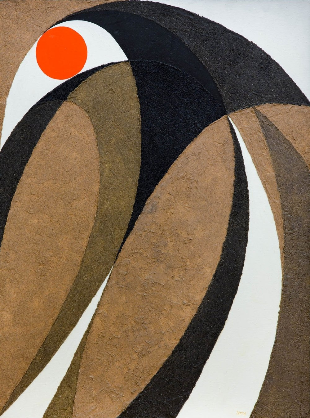 A Focus on Fusion , August 1982, Acrylic on canvas, 40 x 30 inches