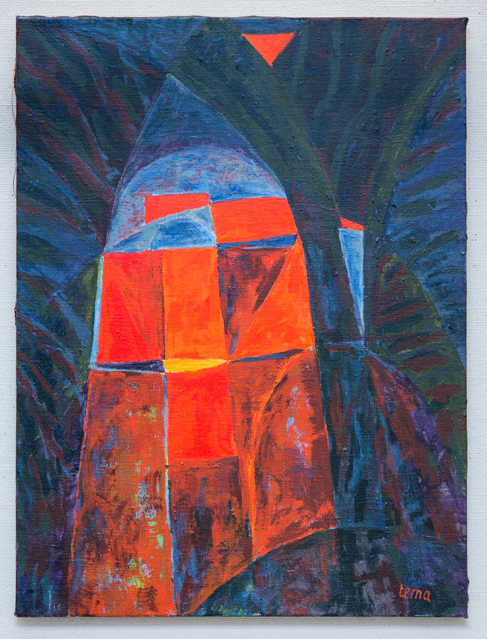 Echo Gate , 2016, Acrylic on canvas, 24 x 18 in