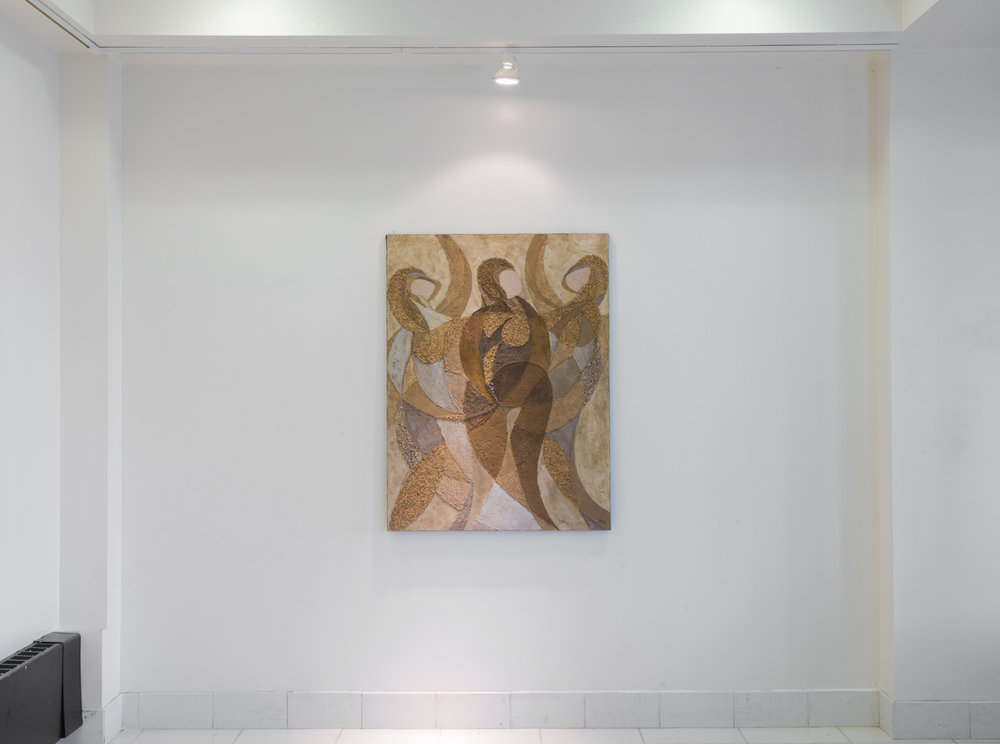 Fred Terna,  Third Becoming , 1971, Acrylic on canvas, Acrylic and aggregates on canvas, 48 x 36 inches