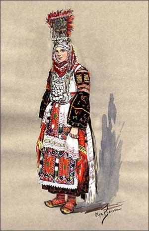 Bride of Kumanovo, Macedonia, circa 1930-1937, image courtesy University of Washington Libraries