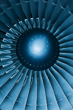 Use of titanium metal in the jet engine turbine blade