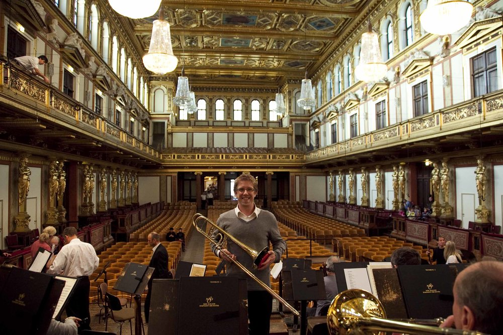 Very excited to be on stage in Vienna's Musikverein